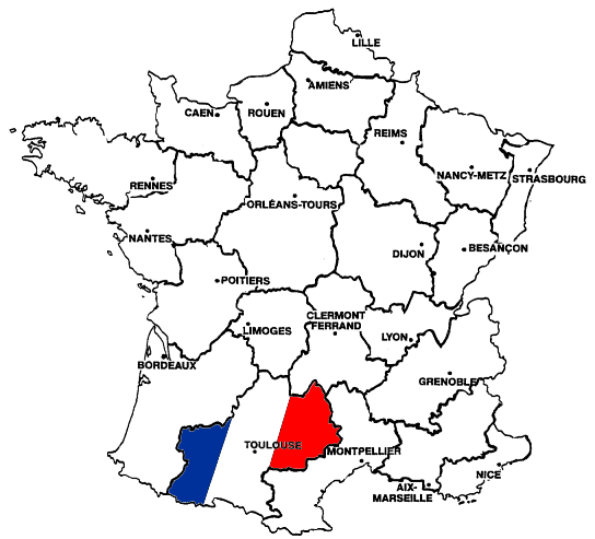 Toulouse Karte.Landkarte Frankreich Toulouse Kleve Landkarte